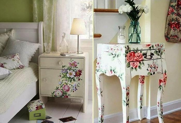 Роспись мебели считается одним из дорогих вариантов декора