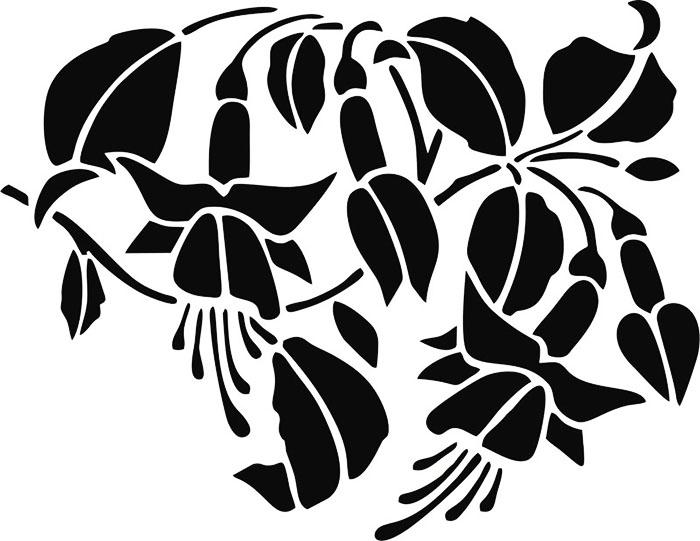 Декор в виде лилий отлично заменит любые цветочные обои