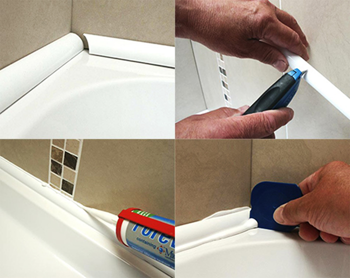 Используйте специальный шпатель для удаления лишнего клея