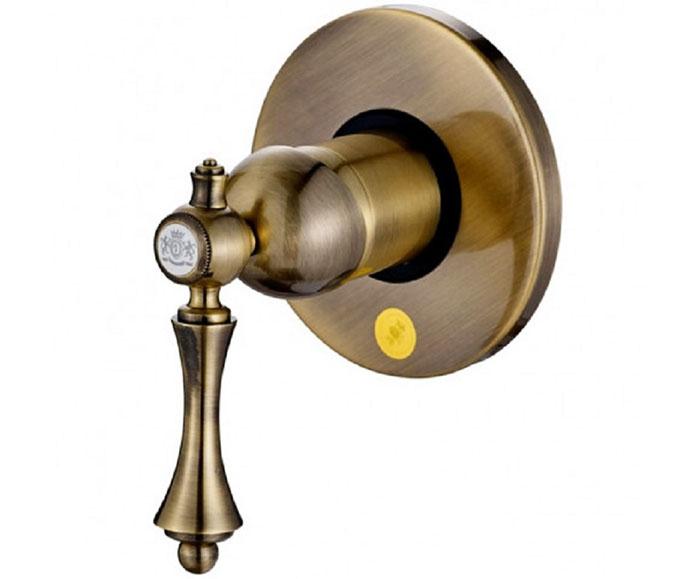 Внешний элемент управления душевого смесителя из бронзы, выполненный в стиле ретро