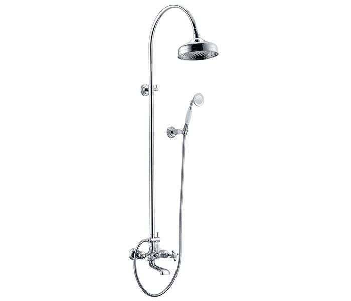 Внешняя душевая система с стационарным верхним и гибким душем