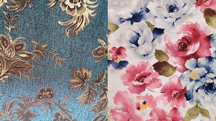 Мебельная обивка с тканным и нанесенным методом печати рисунками существенно отличается, как по своим эстетическим качествам, так и по долговечности