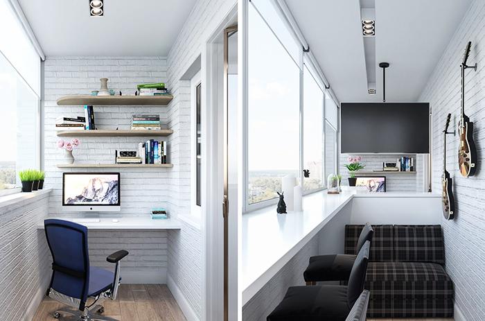 Утеплённый вариант может стать мини-кабинетом или даже спальным уголком