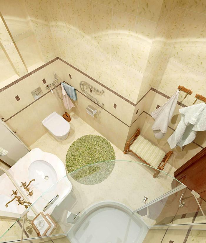 Замена ванны на душевую кабину также способствует увеличению свободной площади