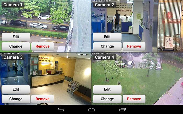 Интерфейс мобильного приложения IP Cam Viewer for Maginon cams для Андроид с основными кнопками команд
