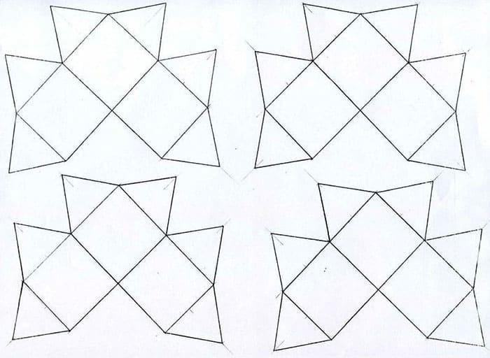 Распечатываем шаблон так, чтобы вышло 16 элементов