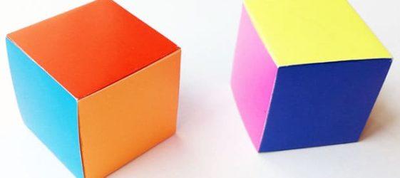 Как сделать куб из бумаги