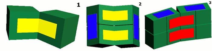 Чтобы трансформация удалась, нужно правильно склеивать кубики