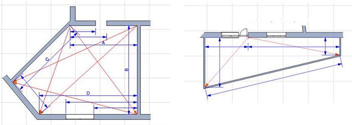 Схема расчёта площади помещений со сложной конфигурацией