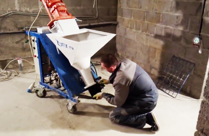 Подготовка штукатурной станции к работе