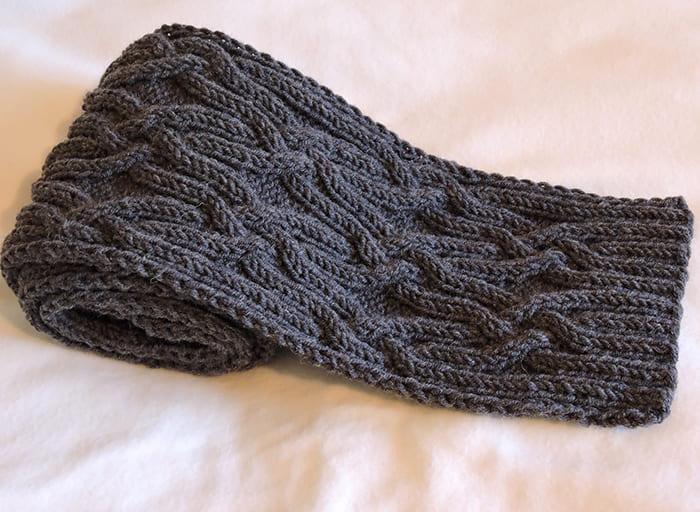 Мужской шарф спицами: схемы с описаниями