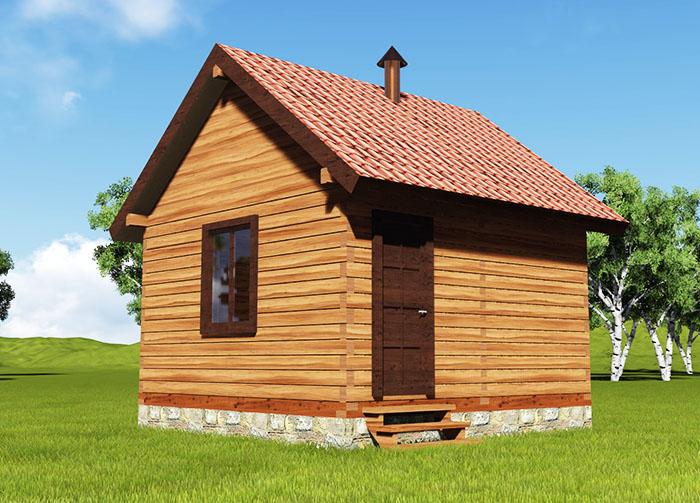 Банные домики бывают разной конструкции