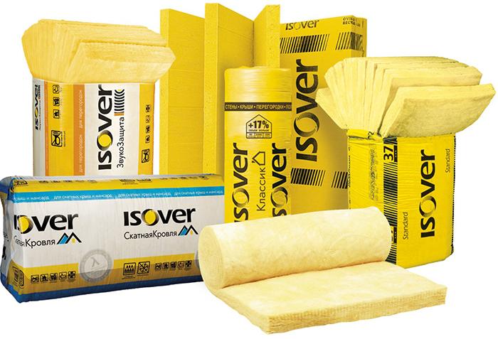 Разновидности минераловатной изоляции Isover