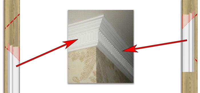 Нужно знать, как клеить потолочный плинтус в углах, чтобы получилось ровно и аккуратно
