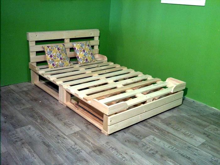 Специальные бортики на краях кровати послужат удерживающим устройством для матраса