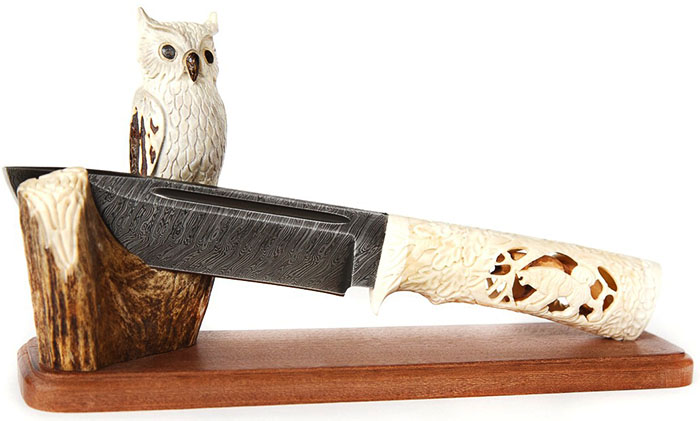 Подставка «Сова» с удобным держателем для ножей