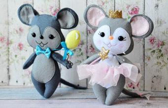 Символ Нового года мышка своими руками
